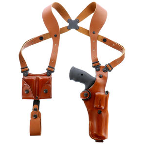 Galco Vertical Shoulder Holster System For Sig P320C Ambidextrous Leather Tan VHS3822