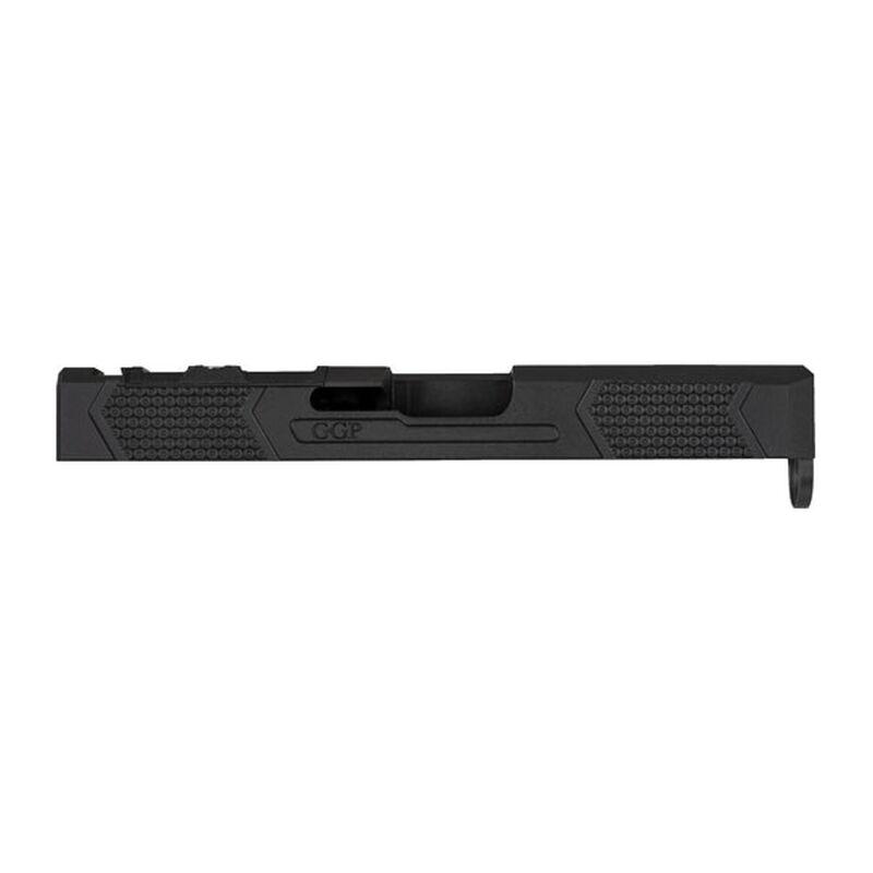 Grey Ghost Precision GGP-19 V4 Stripped Slide fits GLOCK 19 Gen 4 Models  Optic Cut Machined 17-4 Billet Stainless Steel Nitride Coated Black