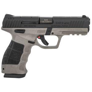 "Sarsilmaz USA SAR 9 Mete Platinum Semi Auto Pistol 9mm Luger 4.4"" Barrel 17 Rounds Fixed Sights Striker Fired Accessory Rail Polymer Frame Platinum/Black Finish"