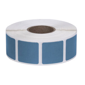 """Action Target Square Target Pasters Roll of 1000 7/8"""" Light Blue"""