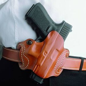 DeSantis Gunhide Mini Slide GLOCK 17, 19, 26, 22, 23, 27, 31, 32, 33, 36 Belt Holster Right Hand Leather Tan 086TAE1Z0