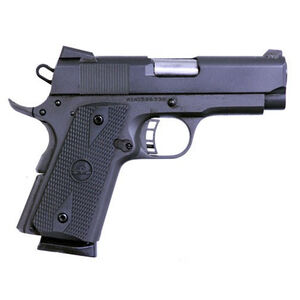 "Rock Island Armory 1911 Tactical Compact Semi Auto Pistol .45 ACP 3.5"" Barrel 7 Round Novak Sights Wood Grips Steel Black Finish"