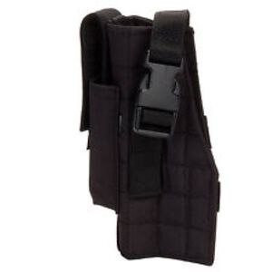 Voodoo Tactical MOLLE Holster With Attached Mag Pouch Nylon Left Handed Black