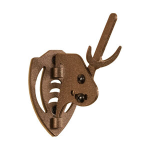 Skull Hooker Mini Hooker Small to Mid-Sized Trophies Wall Mount Adjustable Steel Graphite Brown MHASSYBRN