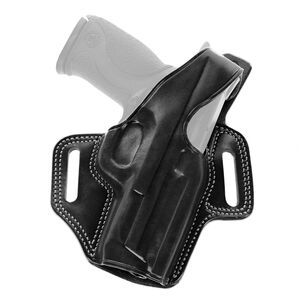 """Galco F.L.E.T.C.H. High Ride Belt Holster Springfield XD 9/40 4"""" Right Hand Leather Black FL440B"""