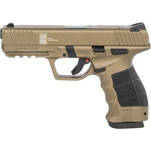 "Sarsilmaz USA SAR 9 Semi Auto Pistol 9mm Luger 4.4"" Barrel 17 Rounds Fixed Sights Striker Fired Accessory Rail Polymer Frame Bronze Finish"