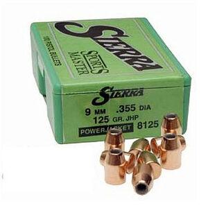 "Sierra 9mm Caliber 0.355"" Diameter 125 Grain Jacketed Hollow Point SportsMaster Bullets 100 Count 8125"