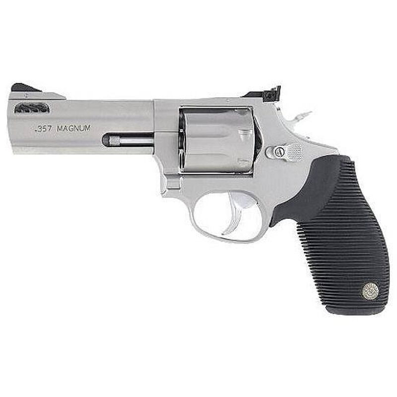"""Taurus Tracker 627 Double Action Revolver .357 Magnum 4"""" Ported Barrel 7 Rounds Fixed Front Sight/Adj Rear Sight Ribber Grip Matte Stainless Steel Finish"""