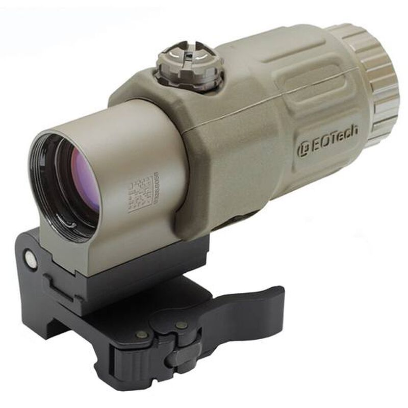 """EOTech G33.STS 3.25x Red Dot Magnifier with """"Switch to Side"""" Picatinny Mount Desert Tan G33.STS.TAN"""