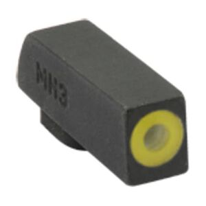 Meprolight Hyper-Bright Tritium Suppressor Height Front Day and Night Sight Phosphorescent Yellow Ring for Kimber 1911