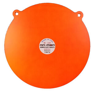"AR-Mor 16"" AR500 Steel Gong Target 3/8"" Orange"