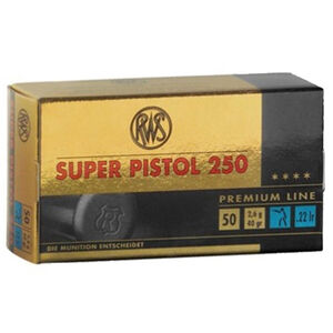 RWS Super Pistol 250 .22 LR 40 Grain RN 50 Round Box