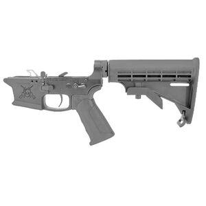 KE Arms KE-9 AR-15 Complete Lower Receiver 9mm Luger Pistol Grip/Stock Billet 7075-T6 Aluminum Hard Coat Anodized Matte Black Finish