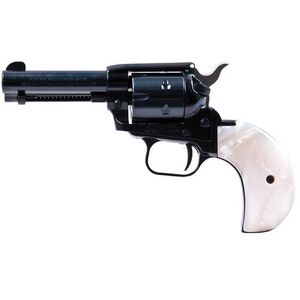 """Heritage Manufacturing Rough Rider Revolver Single Action Army 22LR and 22WMR 3.75"""" Barrel Blued 6 Round Bird's Head Mother of Pearl Grips RR22MB3BHPRL"""