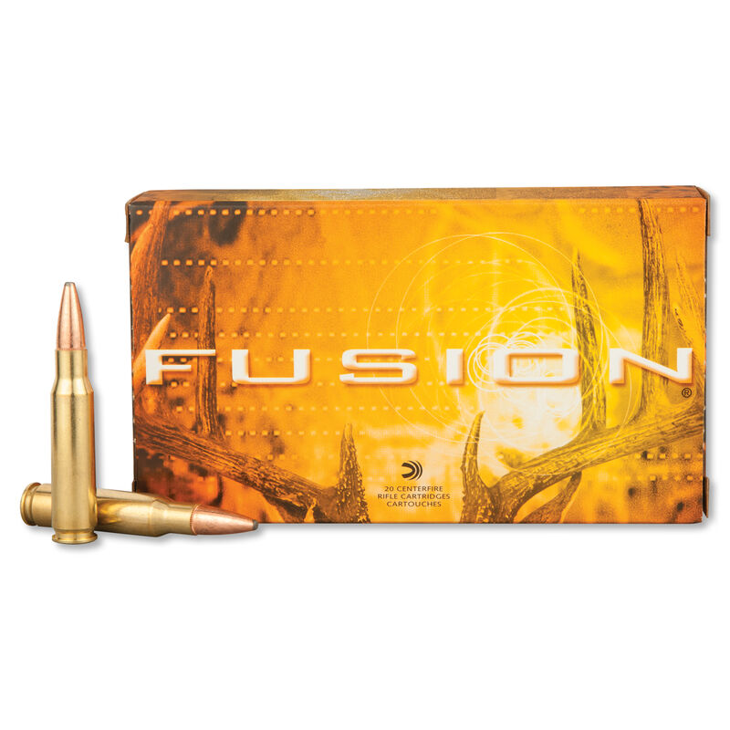 Federal Fusion .308 Win Ammunition 165 Grain Bonded Soft Point 2700 fps