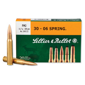 Sellier & Bellot .30-06 Springfield Ammunition 20 Rounds FMJ 180 Grains SB3006A
