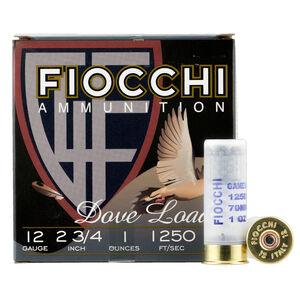 """Fiocchi Game Load 12 Gauge Ammunition 2-3/4"""" #7.5 Shot 1oz Lead 1250fps"""