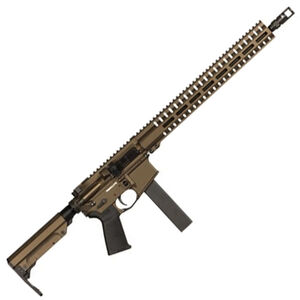 "CMMG Resolute 300 Mk9 Series 9mm Luger AR15 Style Semi Auto Rifle 16"" Barrel 32 Rounds CMMG RML15 M-LOK Hand Guard Cerakote Midnight Bronze"