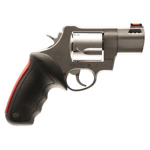 "Taurus Raging Bull 454 Double Action Revolver .454 Casull 2.25"" Ported Barrel 5 Rounds Fiber Optic Front Sight/Fixed Rear Sight Rubber Grip Matte Stainless Steel Finish"