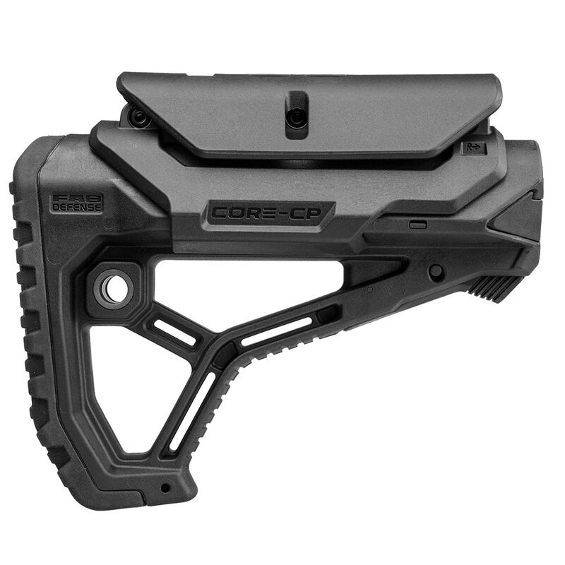 FAB Defense AR15/M4 Buttstock with adjustable Cheek-Rest for Mil-Spec and Commercial Tubes Polymer Black