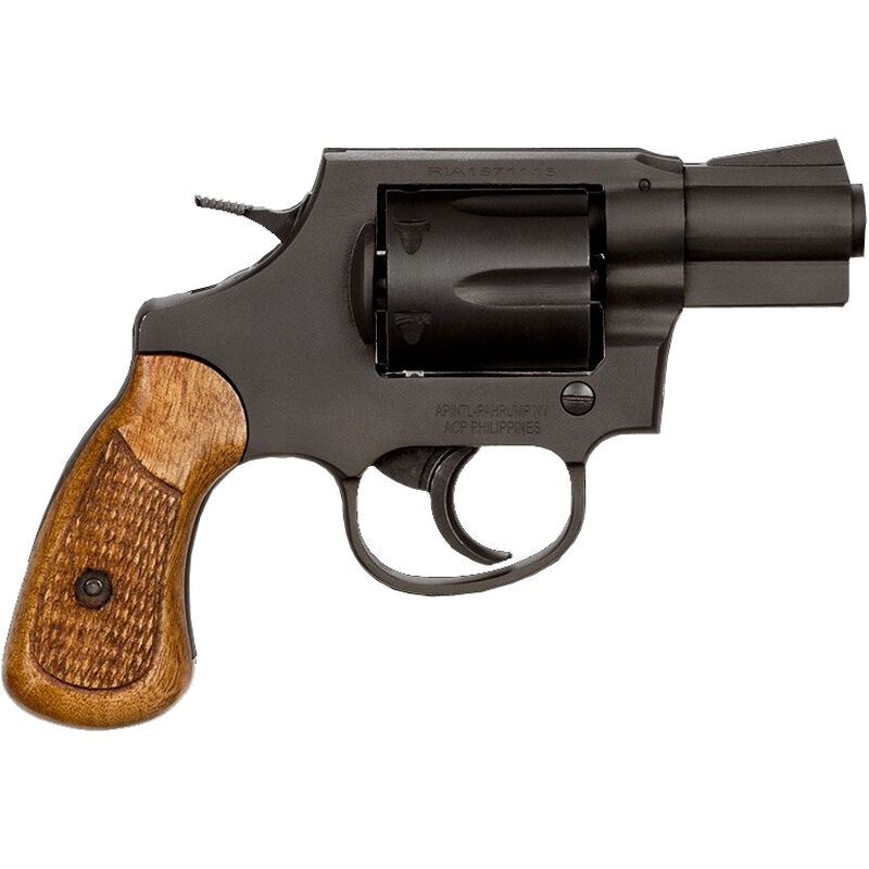 "Rock Island Armory M206 Revolver .38 Special 2"" Barrel 6 Rounds Fixed Sights Wood Grips Black"