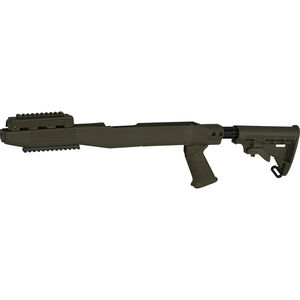 TAPCO Intrafuse T6 Fusion Railed SKS Stock System Collapsible Stock Pistol Grip Picatinny Rail Upper/Lower Hand Guard Olive Drab Green