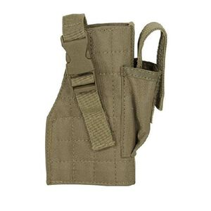Voodoo Tactical Molle Holster with Attached Mag Pouch Coyote 25-002907001