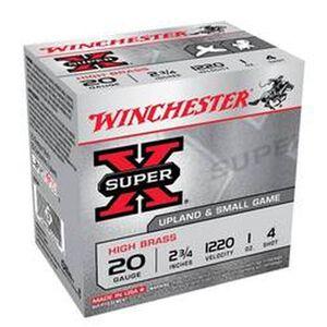 """Winchester Super-X 20 Ga 2.75"""" #4 Lead 1oz 25 Rounds"""