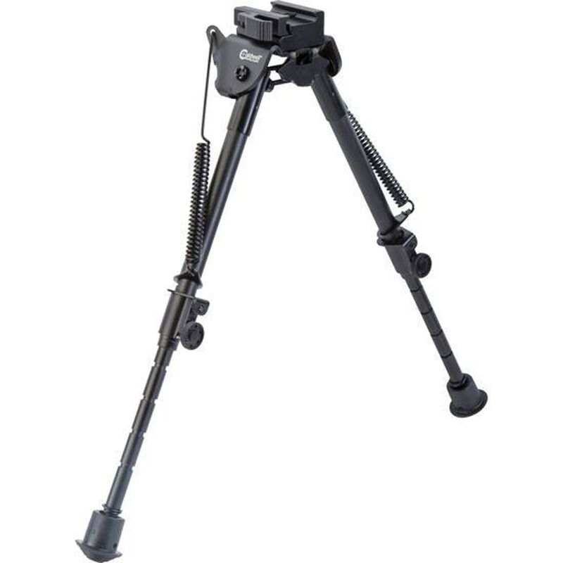 """Caldwell XLA Fixed Bipod 9"""" to 13"""" Height Forend Picatinny Rail Attachment Spring Loaded Legs"""