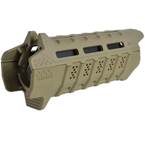 Strike Industries AR-15 Handguard Carbine Length M-LOK Compatible 2 Piece Drop-In Polymer FDE SI-STRIKE-HG-CFDE-BK