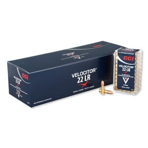 CCI Velocitor .22LR Ammunition 40 Grain Plated HP 1435 fps