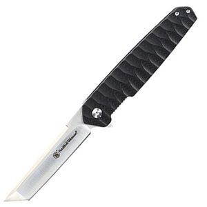 """Smith & Wesson 24-7 Folding Knife 3.5"""" Tanto 8Cr13MoV Stainless Steel Blade G10 Handle Pocket Clip"""