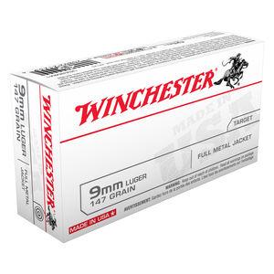 Winchester USA 9mm Luger Ammunition FMJ 147 Grains  990 fps