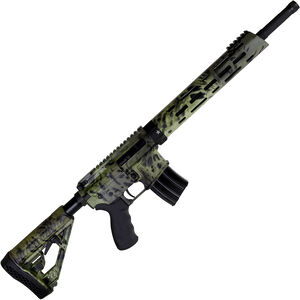 "Alexander Arms Hunter .50 Beowulf AR-15 Semi Auto Rifle 16.5"" Threaded Barrel 7 Rounds M-LOK Compatible Freefloat Handguard Collapsible Stock Woodlands Camo Finish"
