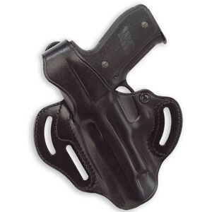 Galco Cop 3-Slot GLOCK 19, 23, 32 Belt Holster Thumb Break Left Hand Leather Black CTS227B
