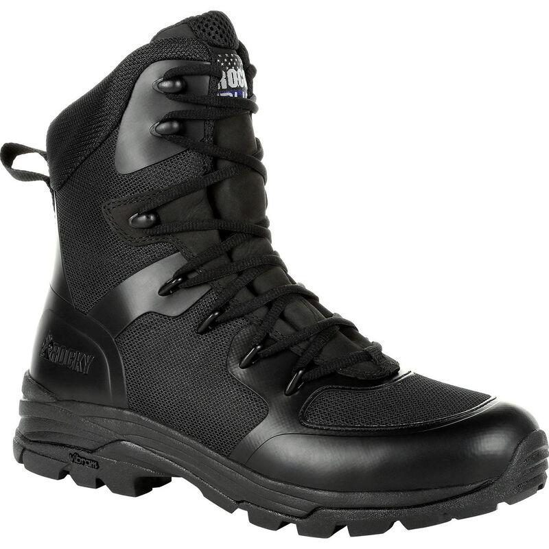 "Rocky International Code Blue 8"" Public Service Boot Leather Size 13 Black"