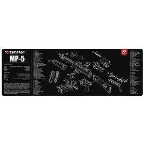 """TekMat Gun Accessories HK MP5 Schematic 12""""x36"""" Gun Cleaning Mat Black"""