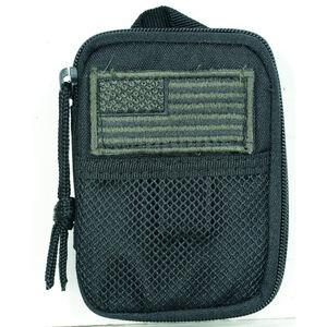 """Voodoo Tactical MOLLE Tactical Compact BDU Wallet 5.5"""" x 4.5"""" Fob Clip/Lanyard Strap Zipper Closure Nylon Black 843601000"""