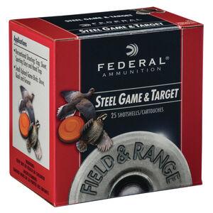 """Federal 28 Gauge Ammunition 250 Rounds 2.75"""" #6 Steel Shot 0.625 oz."""