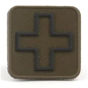 "Eleven 10 Cross Patch 1"" x 1"" PVC Ranger Green/Black"