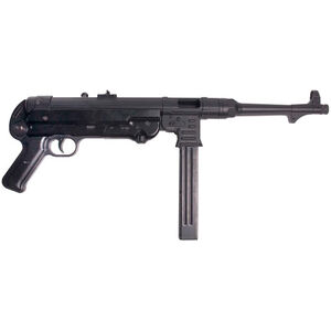 "German Sport MP40P Semi Auto Pistol 9mm 10.8"" Barrel 25 Rounds Synthetic Grip Matte Black"