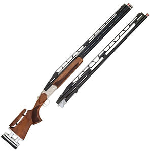 "TriStar Trap TT-15 CTA Deluxe Break Action Shotgun 12 Gauge 32"" O/U Double Barrel and 34"" Unsingle Barrel 2.75"" Chambers FO Sight Adjustable Walnut Stock Blued"