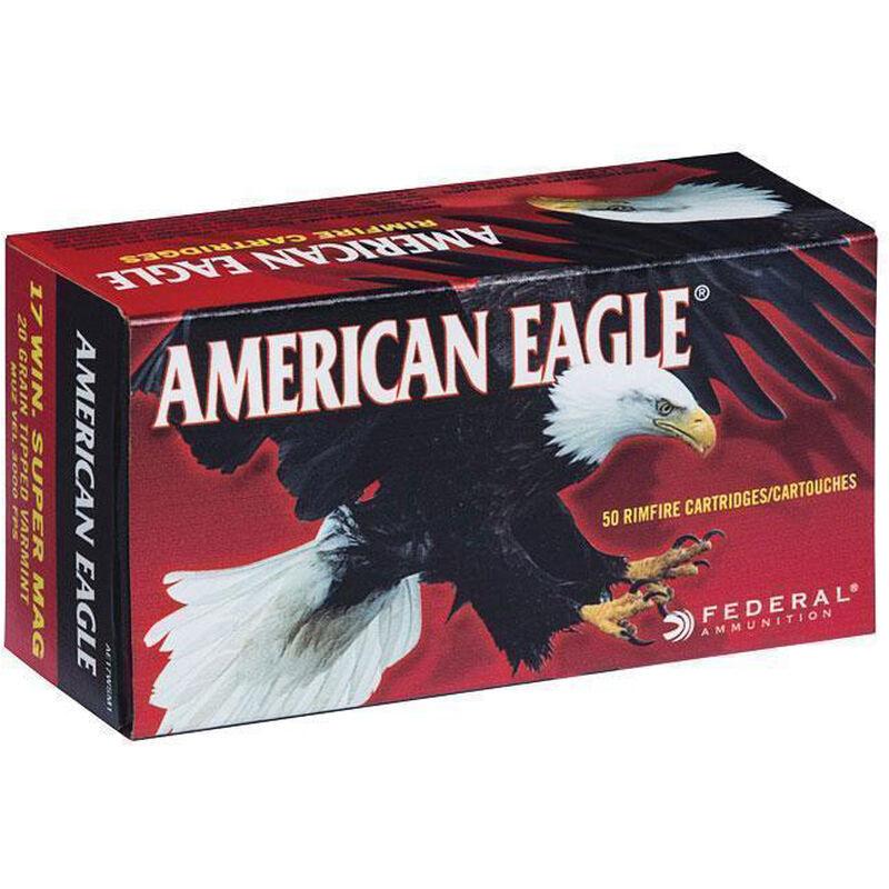 Federal American Eagle .17 WSM Ammunition 50 Rounds Varmint 3,000 Feet Per Second