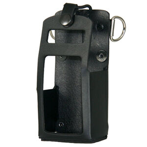 Boston Leather Motorola HT 750/1250 Radio Holder Leather Plain Black 5707RC-1