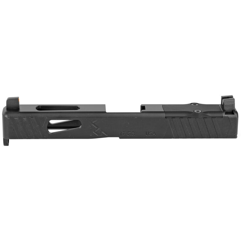 Rival Arms Slide for GLOCK 17 Gen 4 Frame MOS/RMR Ready Optic Cut/Night Sights CNC Machined 17-4PH Stainless Steel Billet Matte Black Finish
