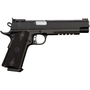"Rock Island Armory PRO Match Ultra Full Size 1911 Semi Auto Pistol 10mm Auto 6"" Barrel 8 Rounds Parkerized Steel Frame Synthetic Grips Black"