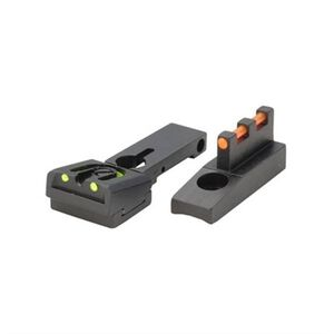 Williams Firesight Set Springfield XD's Excluding Tactical Models Fiber Optic Sights Fixed Front Adjustable Rear Sights Aluminum Matte Black