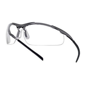 Bolle Contour Metal Safety Glasses Black Frame with Clear Lens