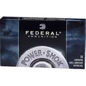 Federal Power-Shok .280 Remington Ammunition 20 Rounds JSP 150 Grains 280B