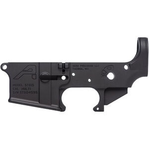 Aero Precision STS15 AR-15 Stripped Lower Receiver Multi Caliber Marked Short Throw Safety 7075-T6 Aluminum Black